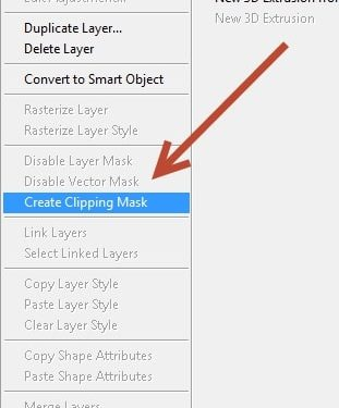 Chọn Create Clipping Mask